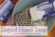 How to Make Liquid Hand Soap « Go Gingham Stylishly Frugal Living