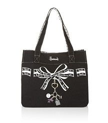 Harrods Bows and Charm Canvas Tote