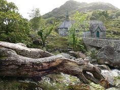 Derrycunnihy Church,,Galwey's Bridge,Killarney National Park,Co Kerry. Haunted by a young girl in white, reported to have died on the bridge, still trying to find her way home. park ireland, nation park, national parks, irish root