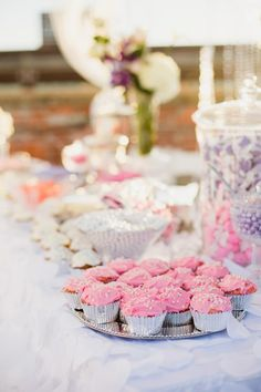 Cute pink cupcakes. Wedding by Emerson Events. Photo by Anna Lee Media. #wedding #cupcake #pink #sweettreat