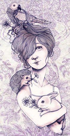 Lisa Perrin. cute animal portrait!