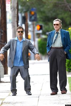 Al Pacino and Christopher Walken hanging out