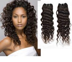 Deep curl hair.