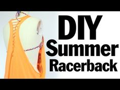 DIY Racerback Muscle T-shirt Recon, Summer Music Festival Fashion - YouTube