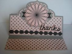 Handmade Thank You Card Elegant Framelit Stand-Up Card Sizzix Framelits Stampin