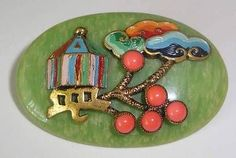ART-DECO-CZECH-NEIGER-BROS-BROOCH-CHINOISERIE-GALALITH-CORAL-1920s-157