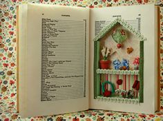 paper wreaths, crafts using old books, altered books, miniature dollhouse, book page crafts