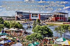 """""""Few college football cathedrals can match McLane Stadium. Fans can arrive by boat and tailgate on the Brazos River before entering one of the most innovative venues in the nation."""" -- ESPN // #SicEm"""