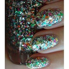 holiday, nail polish, opi, nailpolish, rainbow connection, rainbows, glitter nails, the muppets, sparkly nails