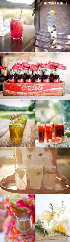 Cocktail, beverage serving ideas  @oliveetoriel