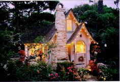 "Another view of Fairytale Cottage by Hugh Comstock ""a builder of dreams"" Found photo through Babbles 25 Storybook Cottages Post: http://blogs.babble.com/family-style/2011/08/09/living-in-a-fairytale-the-worlds-25-most-magical-storybook-cottage-homes/?pid=2862#slideshow"