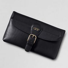 Landmark York Clutch by Lands' End. Rich patina #leather gets softer as you use it. #Handbag #Clutch #CarryTheDay