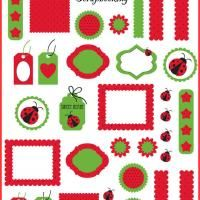 LadyBug Scrapbooking. Give a like for free printable scrapbook pages!