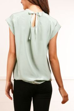 Pretty mint blouse! Love it!
