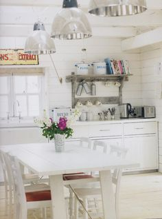 white kitchen via Pale & Interesting book