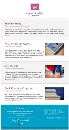 #Education [Template Name: Education - Newsletter]     If you like this pin, re-pin or like it :)   http://subjectbase.com