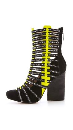 zeppelin booti, shoe collection, matt bernson, designer shoes, neon