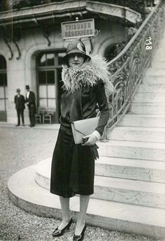 Paris street fashion, second half of the decade, 1920s