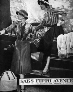Saks Fifth Avenue ad  Knit Suits , 1951