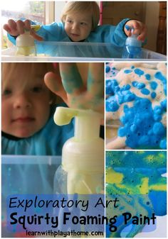 Learn with Play at Home: Exploratory Art for Kids. Squirty Foaming Paint