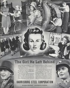 A story about the girl he left behind... #WW2 #vintage #propaganda #poster #1940s