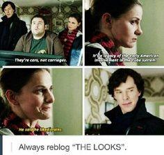 Sherlock and Molly Hooper. The Empty Hearse