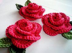 Rose. Crochet flower
