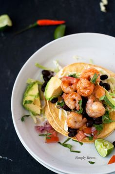 Barbecue Shrimp Tostada