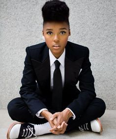 Janelle Monae. Everything about this image is perfect, including her near-symmetrical face.