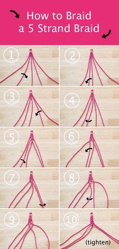How-to: 5 Strand Braid at HandsOccupied.com