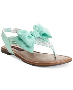 flats shoes aqua, material girl bow sandals, color, aqua shoes, sandal women, mint sandals, flat sandals, womens shoes sandals, cute women shoes