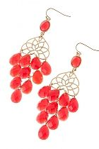 Love these coral & gold earrings. Wouldn't you love to see these in Polished Posta?