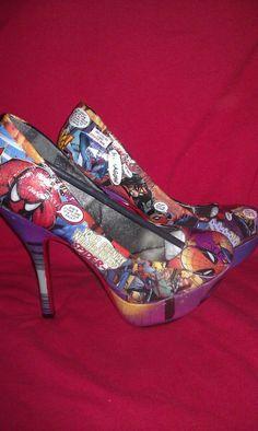 Amazing Spider Man Heels by designed4divas on Etsy, $125.00