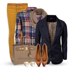 Fall Outfit, blazer, and plaid