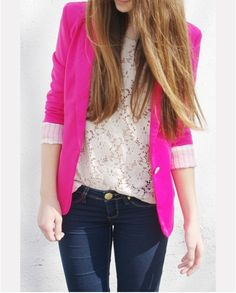 Blazer and lace