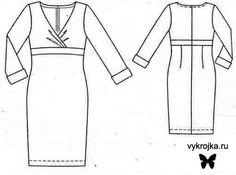 Скачать выкройку трикотажного платья бесплатно