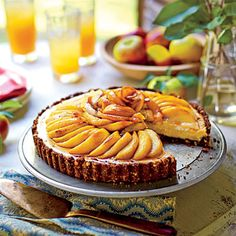 Caramel Apple Cheesecake Tart  | It may look like a chore, but this cheesecake tart calls for a relatively straightforward preparation.