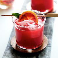 Blood orange margaritas...hellz ya!!