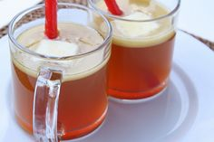 Hot buttered apple cider rum. It'll warm you right up!