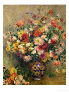 Dahlias Giclee Print by Pierre-Auguste Renoir at Art.com