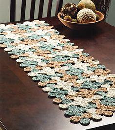 Woven Shell Table Runner, pattern is 3-bucks on ebay