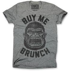 Buy Me Brunch Ape Tee Mens black, gray, mens tees