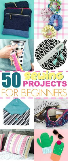 You'll love how cute and easy these sewing projects are to whip up! So many brownie points to anyone who makes all 50 sewing patterns for beginners! #crafts #teen #teens #teencrafts #craftsforteens #craftideasforteens #teencraftideas #diysforteens #teendiy #diyprojectsforteens #diyteencraftprojects #sewing
