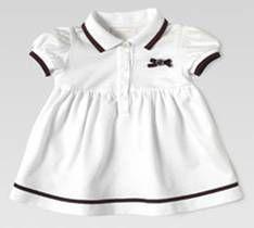 White polo dress from Gucci baby babi fashion, polo dress, dresses, baby girls, babi girl, babi stuff, babi gucci, white polo, kid