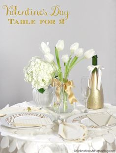ROMANTIC TABLE FOR TWO :: Valentine's Day — Celebrations at Home