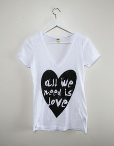 Adult All we need is Love V-neck