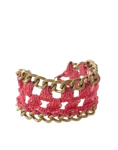 Quick 'n easy crochet and chain bracelet...makes a great gift