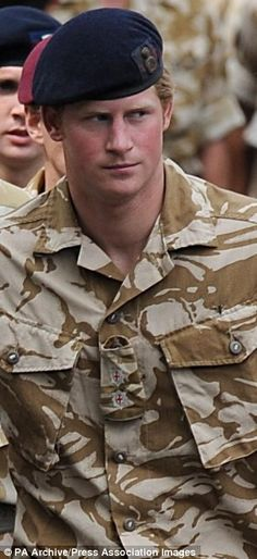 Royal protection: Prince Harry stepped in to defend an openly homosexual soldier who was threatened by other troops