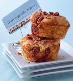 Jumbo Coffee Cake Muffins - These tender cinnamon-sugar muffins will satisfy big eaters at breakfast.