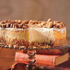 Praline-Crusted Cheesecake   MyRecipes.com